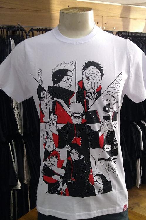 Camiseta Naruto Akatsuki Team Branco Chemical C2191