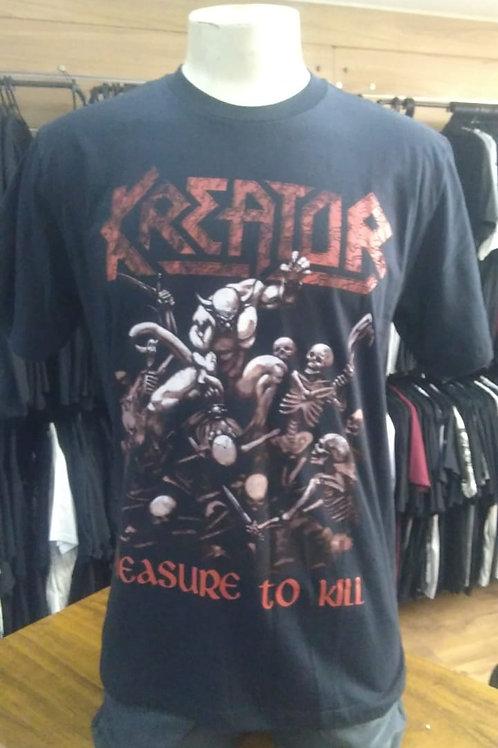Camiseta  Kreator Pleasure To Kill Brutal BKP01
