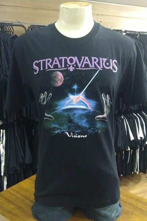 Camiseta Stratovarius Visions Preto Consulado E1433