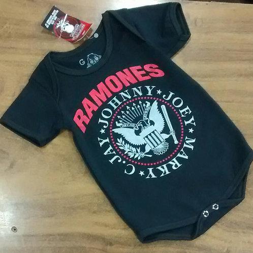 Body Infantil Ramones Logo Vermelho