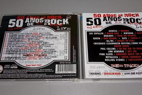 Cd Usado 50 Anos De Rock Live Vol 2 Com Bônus Vários