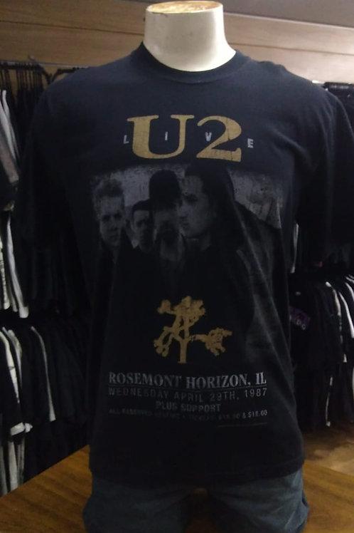 Camiseta U2 Live Stamp TS1051
