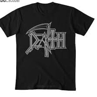 Camiseta Plus Size Death Logo Preto Brutal BDZL04