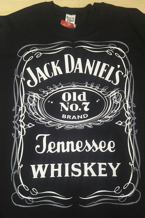 Camiseta Jack Daniel's Logo Preto Rock Store  RSD01