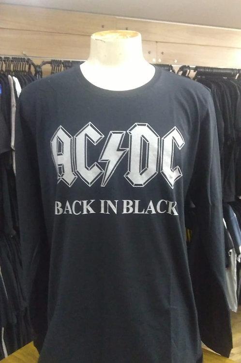 Camiseta Manga Longa Ac/Dc Back In Black BTML181