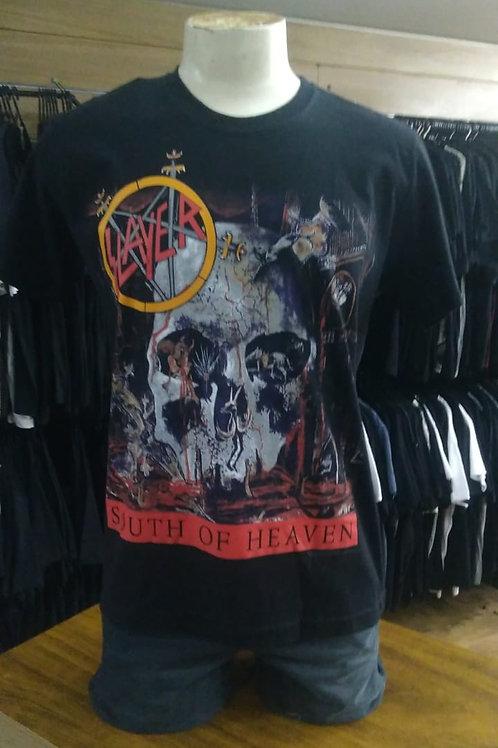 Camiseta Slayer South Of Heaven Preto Stamp TS1280