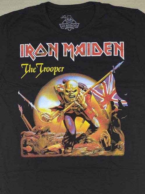 Camiseta Iron Maiden The Trooper Preto Mr. Baboo MBIM5