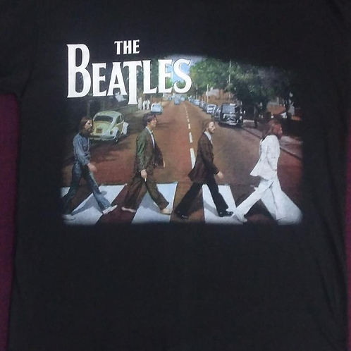 Camiseta Manga Longa Beatles Abbey Road Bomber BLB01