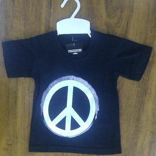 Camiseta Infantil Paz E Amor Brasão Show Malhas Smpb08