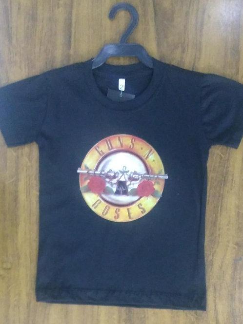 Camiseta Infantil Guns N' Roses Logo CIGNR001
