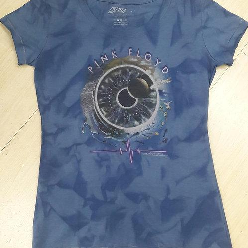 Baby Look Pink Floyd Pulse Azul Stamp  CFE009