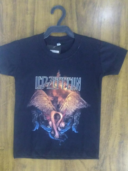Camiseta Infantil Led Zeppelin Anjo CILZF001