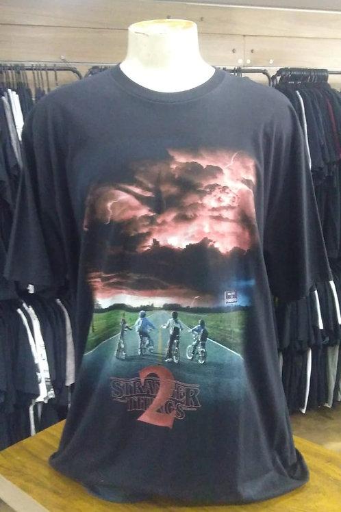 Camiseta Plus Size Stranger Things Brutal Wear STZ03