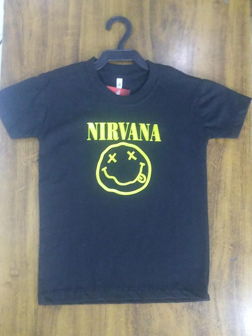 Camiseta Infantil Nirvana Clássica Power Rock Cinc001