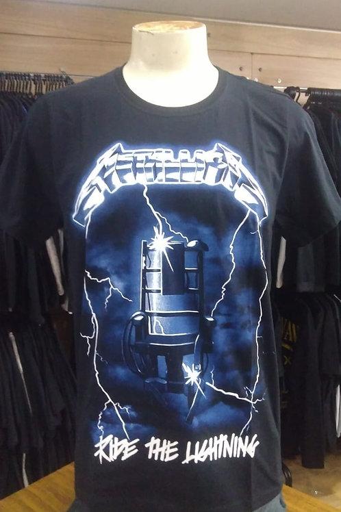 Camiseta Metallica Ride The Lightning Bomber BTCM371