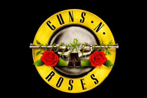 Camiseta Manga Longa Guns N Roses Logo Bomber BLG03