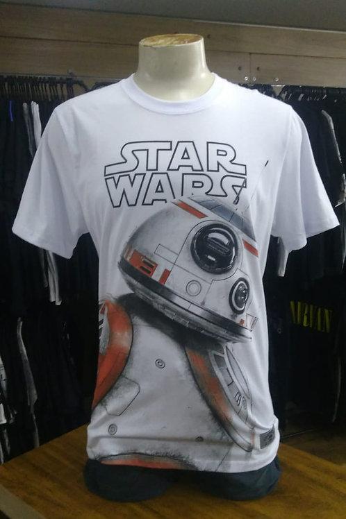 Camiseta Star Wars Branca Bb8 Chemical Cc1889