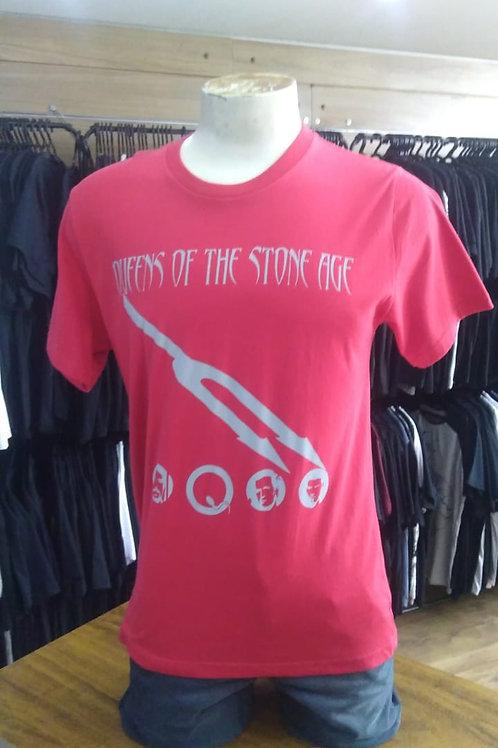 Camiseta Queens Of The Stone Age Vermelha QSTV1