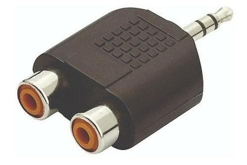 Adaptador RCA para P2 Estereo XP016