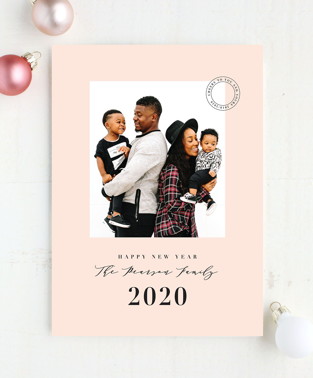 Christmas cards with family photos
