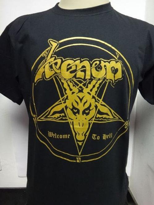 Camiseta Venom Welcome To Hell Brutal B3202