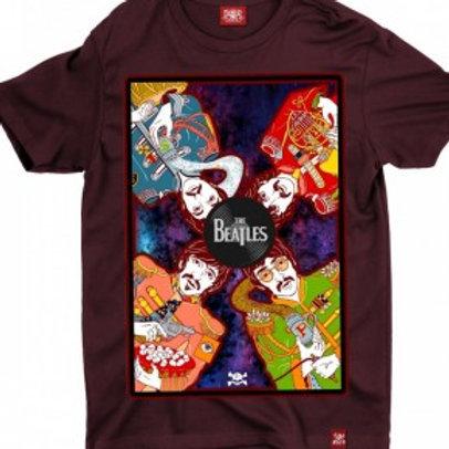 Camiseta Plus Size Beatles Vinho Color Chemical Czc1813