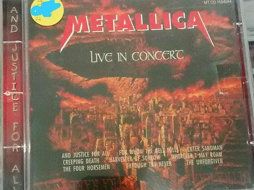 Cd Usado Metallica Live In Concert