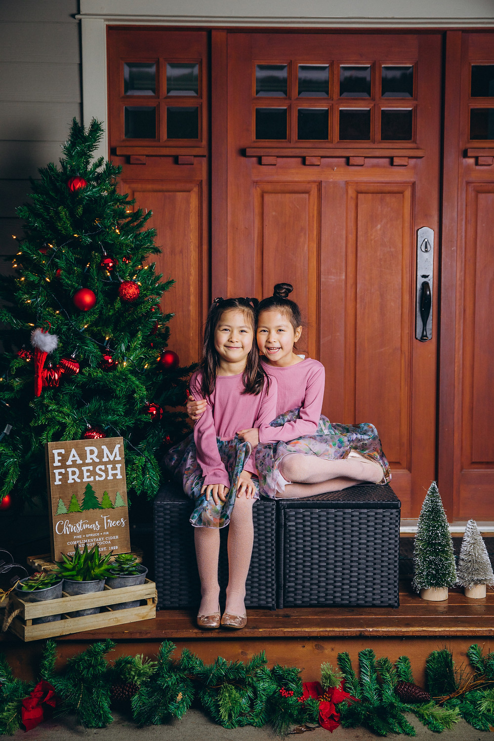 Christmas mini session with twins
