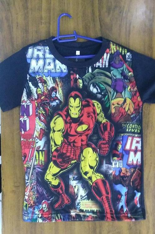 Camiseta Infantil Homem de Ferro Sublimada CIIM01