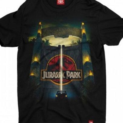 Camiseta Jurassic Park Preto Chemical C2260