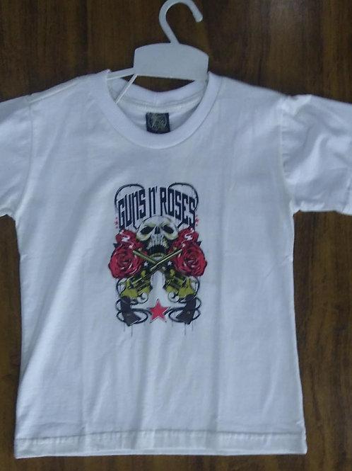 Camiseta Infantil Guns N' Roses Creme CIGC01