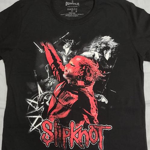 Camiseta Slipknot Banda Preto Bomber BOSK1