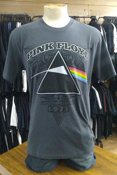 Camiseta Pink Floyd Earls London Cinza Escuro Stamp TS969