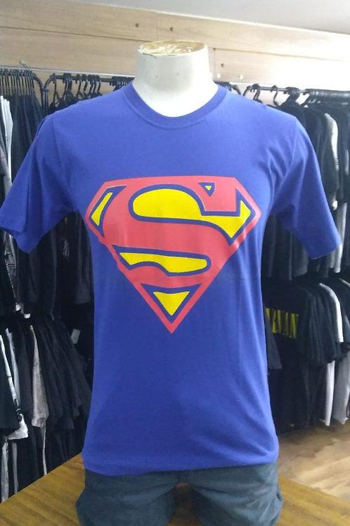 Camiseta Super Man Azul Show Malhas SMSML01