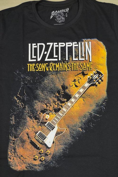Camiseta Manga Longa Led Zeppelin The Song Preto Bomber BLZ5