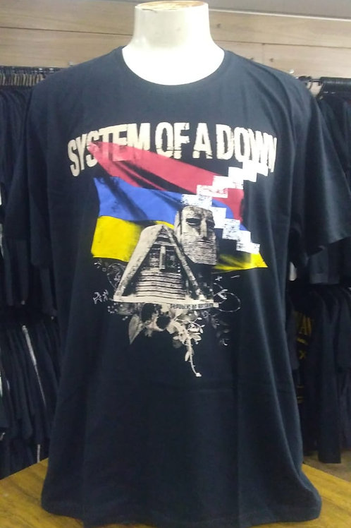 Camiseta Plus Size System Of A Down BTCM587