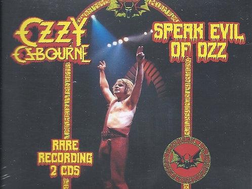 Cd Ozzy Osbourne Speak Evil Of Ozz Rare Recording 2 Cds