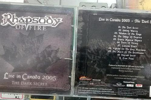 Cd Usado Rhapsody Of Fire Live in Canada