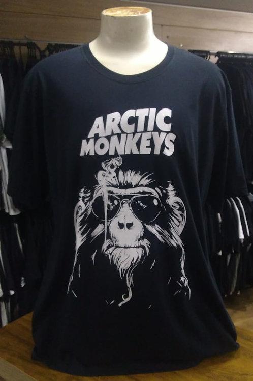 Camiseta Plus Size Arctic Monkeys Monkey Cigarette Am003