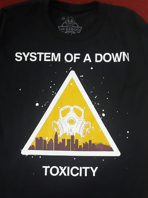 Camiseta System Of A Down Toxicity Preto Mr. Baboo MBST04