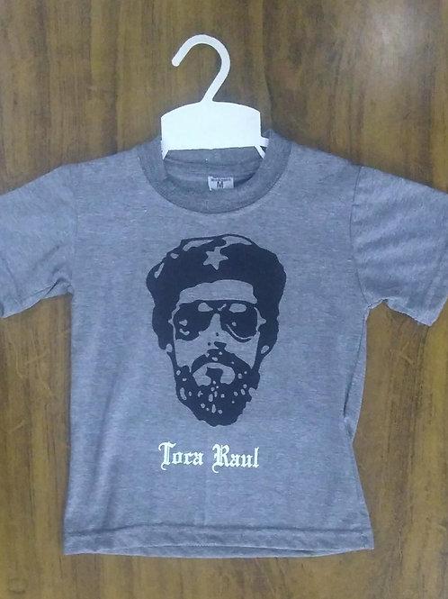Camiseta Infantil Raul Seixas Cinza CIRSTC01