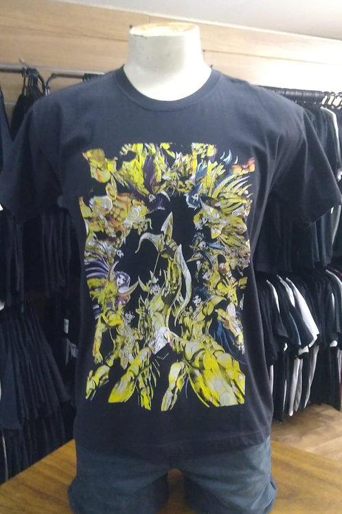 Camiseta Cavaleiros do Zodiaco Power Rock PWCZ01