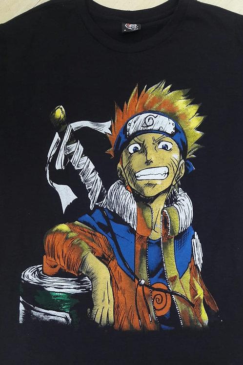 Camiseta Naruto Kurama Preto Rock Store RSNT3