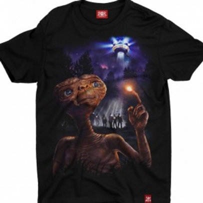 Camiseta E.T. Movie New ET Preto Chemical C2246