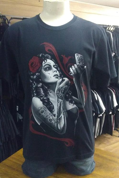 Camiseta Catrina Caveira Mexicana HCDCA01