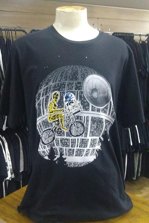 Camiseta Star Wars Plus Size Droids Et Chemical Czsw01