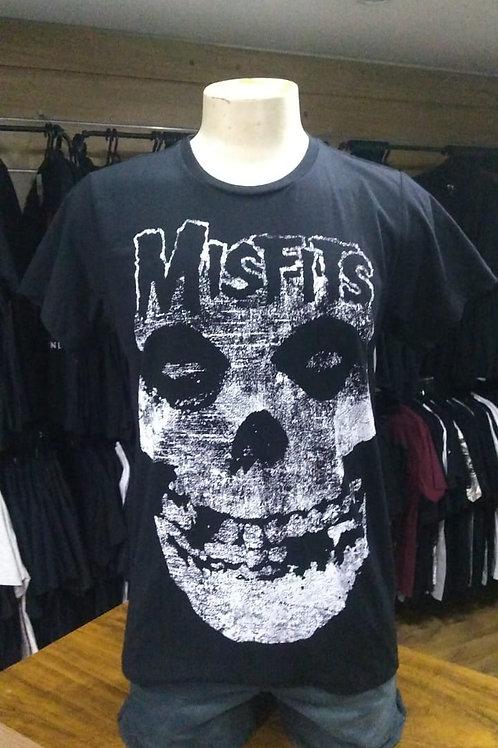 Camiseta Misfits Logo Preto Bomber BOMF1