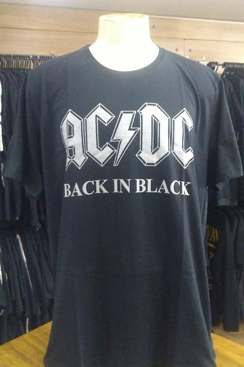 Camiseta Plus Size Ac/Dc Back In Black BTCM181