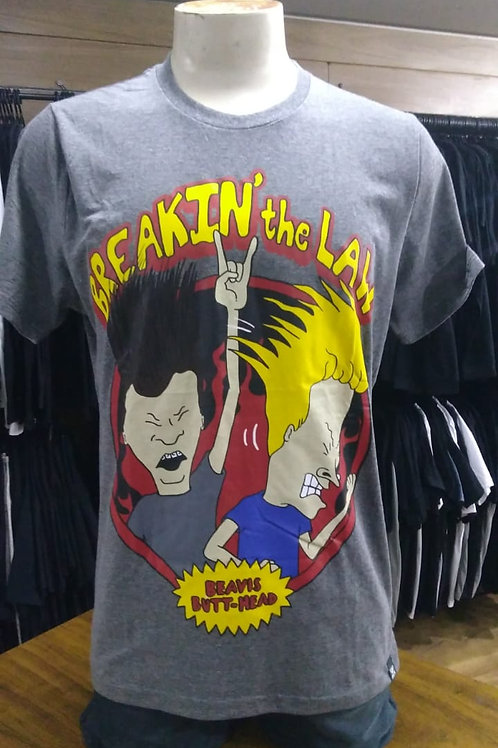 Camiseta Beavis And Buthead The Law Cinza Escuro C1529