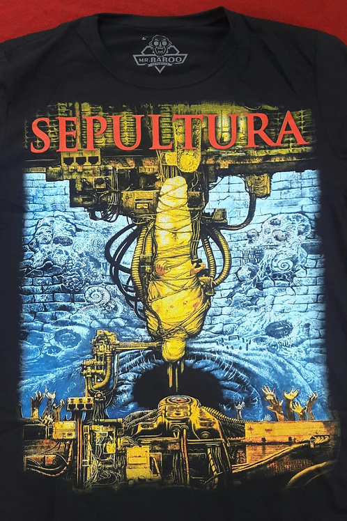 Camiseta Sepultura Chaos Preto Mr. Baboo MBSP4